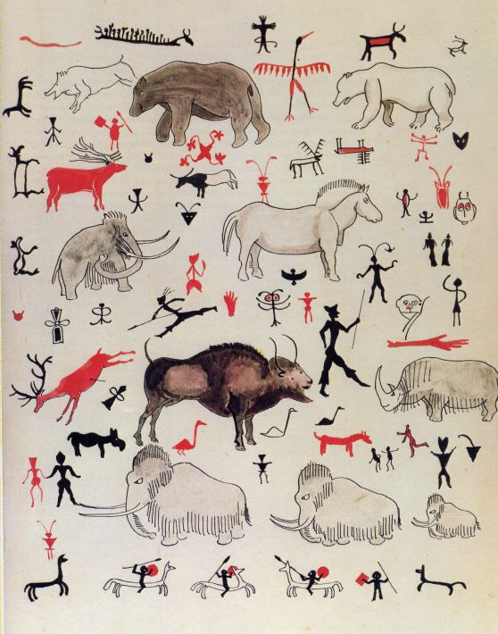 Father christmas letters 1932 the barrow downs discussion forum fc says that they were drawn mostly by cave men with additions by the goblins the third page of drawings is a letter from the north polar bear spiritdancerdesigns Choice Image