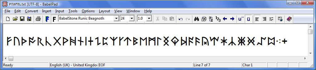 Babelstone Fonts Babelstone Anglo Saxon Runic Fonts