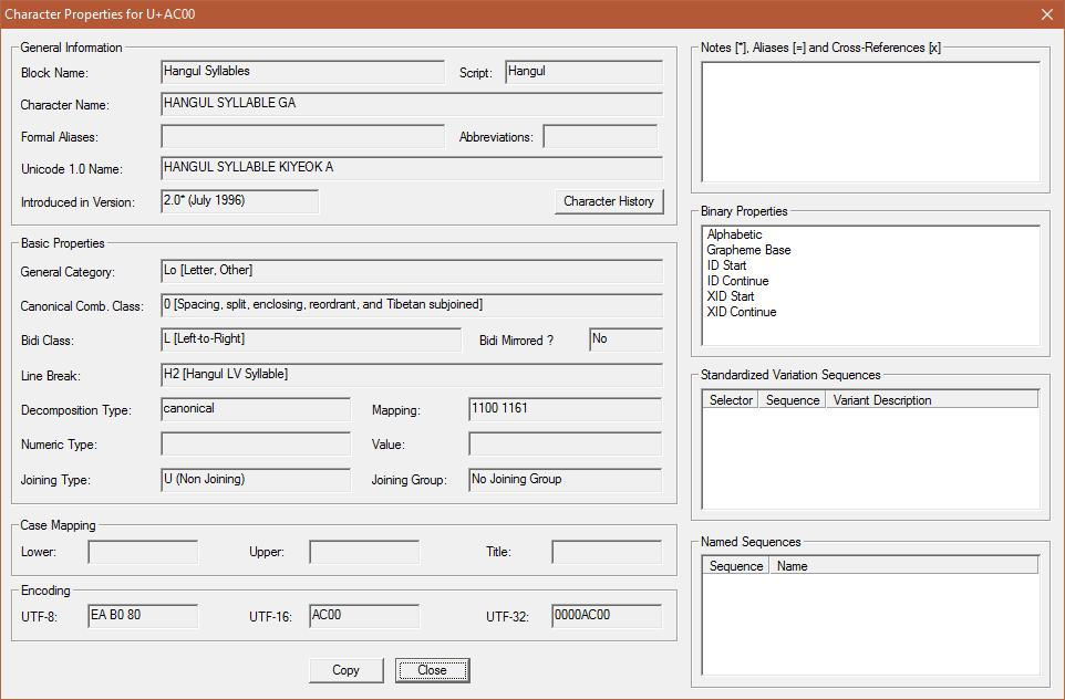 BabelStone : BabelMap Help : Tools : Character Properties